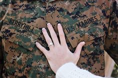 Marine corps love. Engagement photos