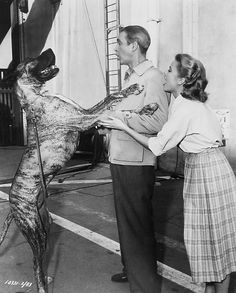 Jimmy Stewart and Grace Kelly. Also, I LOVE this Great Dane!