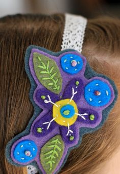 Diadema (headband) para mis niñas.//
