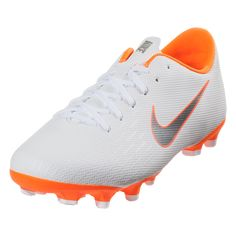 Nike Junior Mercurial Vapor XII Academy GS MG Multi Ground Soccer Shoe White Metallic  Cool Grey Light Crimson-1 67074a2d892c0