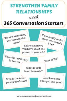 365 Conversation Starters for the Family <br> Life can be busy. How often do we take time to slow down a little and get to know the ones we love most? With 365 Conversation Starters for the Family, you can do just that. Family Meeting, Family Game Night, Family Games, Family Activities, Time Activities, Indoor Activities, Summer Activities, Conversation Starters For Couples, Conversation Topics