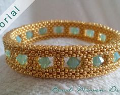 Val D'or Necklace Tutorial by BeadWovenDreams on Etsy