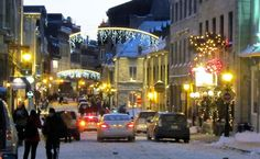 Christmas lights in Old Montreal. Nice scene for one of my Lora Weaver books:)