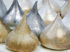Suspiros: suspiros gourmet da Les Bisous prateados e dourados