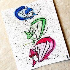 The Fairies from Sleeping Beauty in watercolor! #sleepingbeauty #fairy #fairygodmothers #disneyfanartshare #disneyfanartshare #disneyartshare #magic #disney #art #watercolor #painting #frozen_zaara_featureday