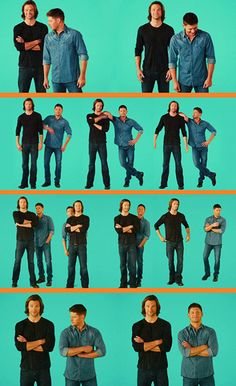 Jared and Jensen <3 - The last two pictures kill me! Jensen's dorky smile is perfect!