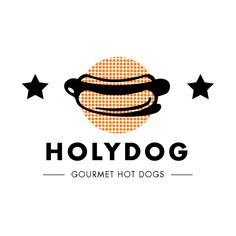 Brand for gourmet hotdogs restaurant.