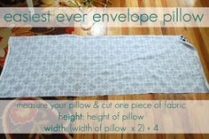 Take the Side Street: Easiest Envelope Pillow Ever