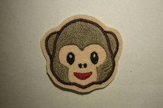 Monkey Face Emoji  Embroidered IronOn SewOn Patch