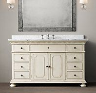 St. James Single Extra-Wide Vanity Sink Bath 1 in darker finish