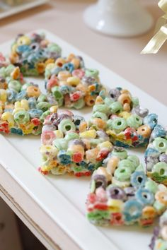 First Birthday Party Desserts Fruit Loop Hearts - yum!