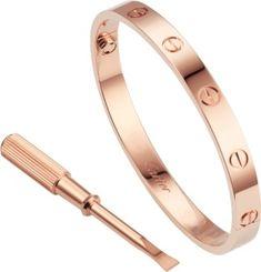 c13f7c178ef Pulseira Love Ouro rosa Bracelete De Amor Cartier