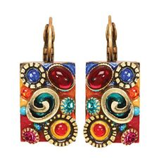 Michal Golan :: SHOP BY COLLECTION :: Confetti Rectangle Earrings