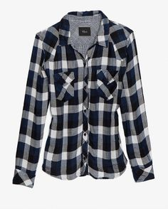 intermix rails plaid shirt