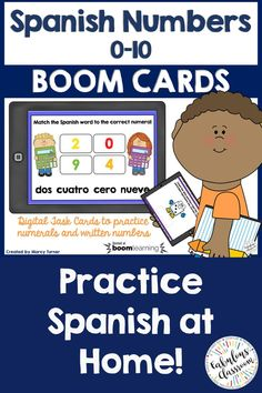 Need a fun way to learn or reinforce Spanish numbers These cards will help reinforce both numerals and the corresponding Spanish words for the numbers. Includes matching as well as fill in the blank activities. Spanish Teaching Resources, Spanish Activities, Teaching Tools, Spanish Games, Homeschooling Resources, School Resources, Classroom Resources, Teacher Resources, Teaching Ideas