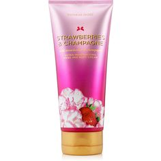 Victoria's Secret Strawberries & Champagne Ultra-Moisturizing Hand and... (115 NOK) ❤ liked on Polyvore