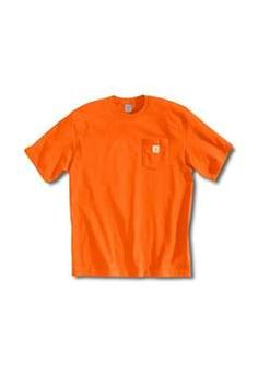 Carhartt Mens K87 Workwear Pocket T Shirt - Orange | Buy Now at camouflage.ca