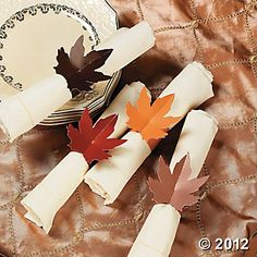 Fall Wedding Napkin Rings, Napkins, Tableware, Party Themes & Events - Oriental Trading
