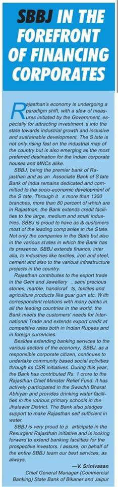SBBJ being the premier bank of Rajasthan and an Associate Bank of State Bank of India is committed to the socio-economic development of the State. Visit sbbjonline.com