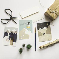 Winter Grußkarten mit Kuvert zu Weihnachten von www.roadtyping.de