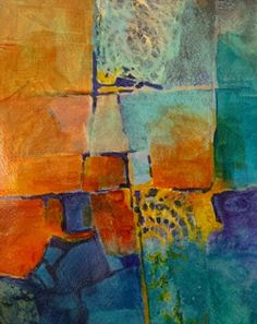 """CAROL NELSON FINE ART BLOG: """"Color Study 4"""", textured mixed media abstract by Colorado contemporary mixed media artist Carol Nelson"""