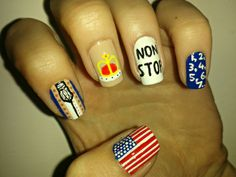 The Federalist Freestyle Cute Nail Art, Cute Nails, Pretty Nails, Alexander Hamilton, Phillip Hamilton, Hamilton Nails, Hair And Nails, My Nails, Broadway Nails