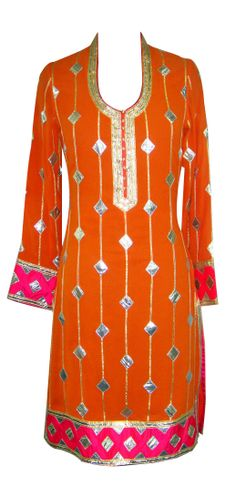 Orange and Pink Salwaar — Zooni — Formal Salwaar Kameez | Indianhanger.com