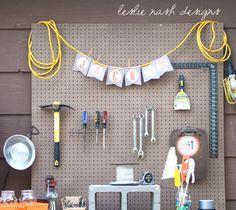 tool party birthday bunting| leslie nash designs