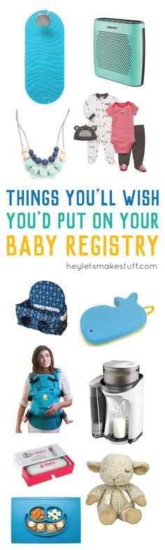 Don't miss putting these baby registry items on your list! These are often missed but must have baby registry gifts.
