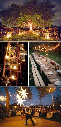 Decoracion nocturna para bodas