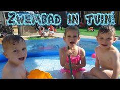 Vlog 78: Zwemmen in achtertuin met super waterglijbaan! - YouTube