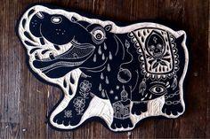 Bryn Perrot Woodcut