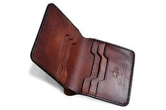 Your place to buy and sell all things handmade Leather Wallet Pattern, Slim Leather Wallet, Stitching Leather, Hand Stitching, Leather Purses, Men Wallet, Slim Wallet, Leather Wallets, Leather Men