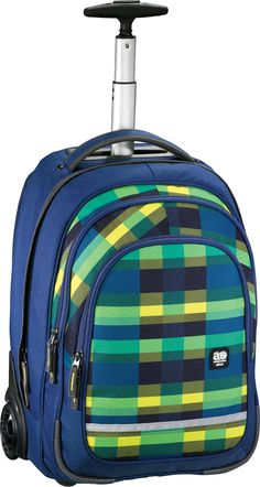 All Out Bolton Trolley Rucksack Summer Check Green