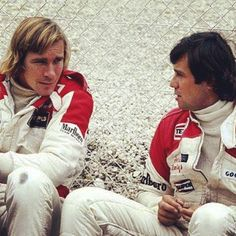 adrientambay So proud of him ! #Dad and his #McLaren #Team #Mate #JamesHunt #Legends #Oldschool #backinthedays #goodtimes