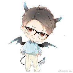 Eb Piggy Chibi Boy, Cute Anime Chibi, Kawaii Chibi, Kawaii Anime, Manga Love, Anime Love, Anime Guys, Manga Anime, Anime Art
