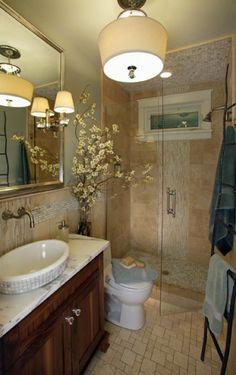 Love this bathroom.  THIS is how I want our main bathroom to look.