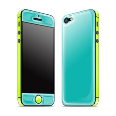 iPhone 5 Glow Gel Teal Yellow