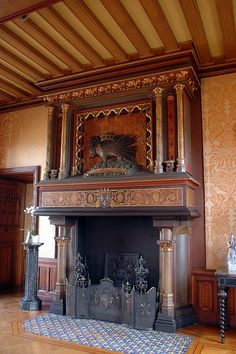 Stove Fireplace, Fireplace Design, Fireplace Mantles, Fireplaces, Foyers, Craftsman Dining Room, Into The Fire, French Chateau, Romantic Homes