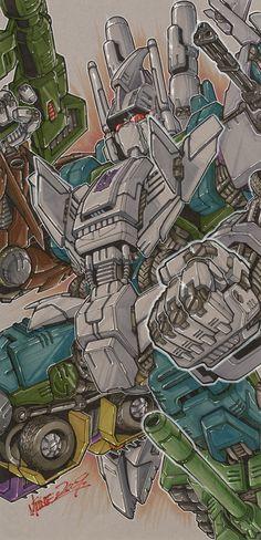 bruticus by markerguru on deviantART Cartoon Video Games, Cartoon Tv Shows, Transformers Characters, Transformers G1, Gi Joe, Transformers Masterpiece, Japanese Anime Series, Classic Cartoons, Optimus Prime
