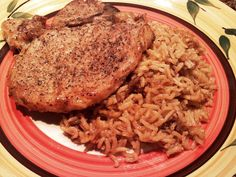 South Your Mouth: Main Dishes = Pork Chop Cassorole  /// long-grain Rice & French Onion Soup