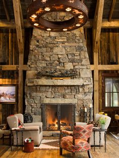 Stone fireplace I will have one day