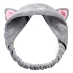 "Two Stupid Cats ~ Products ~ Cute Cat Ears Girl's Hairband   Keep your Cat ears in check with this warm and plush hairband in black, white and gray. Great for keeping your hair away while washing your face or doing household chores.  Type: Headband Material: Plush Fabric Style: Fashion, Cute Occasion: Party, Vacation, Daily Life Features: Cat Ears, Hair Accessory, Wash Face Helper Circumference: 46 cm/18.11"" (Approx.) (Elastic) Diameter: 15 cm/5.91"" (Approx.)"