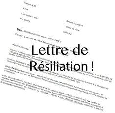Résiliation abbonement