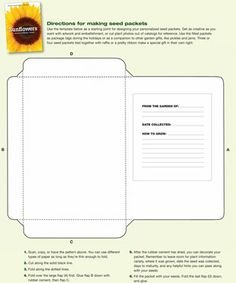Make Your Own Seed Packets - Free easy-to-follow template to print out & save/share your favourite seeds. | The Micro Gardener