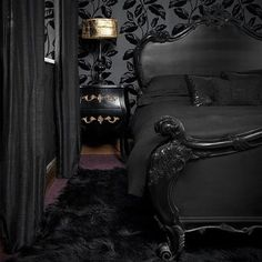 If you like Gothics, old luxury, sharp corners, black and red and vampire sagas, have a look at these luxurious bedrooms.