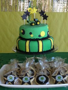 Cake at a John Deere Party #johndeere #partycake