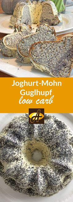 Low-calorie recipe yoghurt-poppy seed ring cake low carb- Rezept Joghurt-Mohn-Guglhupf lowcarb kalorienarm Super juicy ring cake with yoghurt and poppy seeds! ONLY 171 kcal and KH per piece without chocolate coating! Healthy Toddler Snacks, Diabetic Snacks, Easy Snacks, Yogurt Recipes, Snack Recipes, Ring Cake, Snacks Under 100 Calories, Chocolate Coating, Pumpkin Spice Cupcakes
