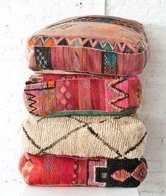 Bohemian floor poufs