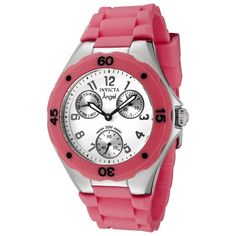 Invicta Women's 0706 Angel Collection Dark Pink Multi-Function Rubber Watch, (casual watch)